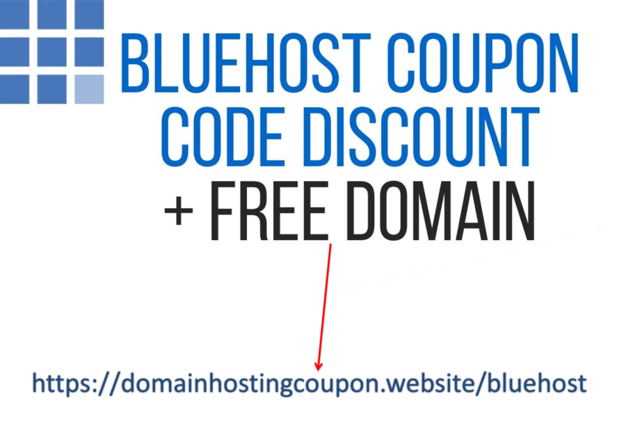 1)Free domain from Bluehost  2)67% discount on your first year of hosting (get hosting discount here)